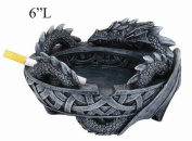 ANCIENT GUARDIAN GRENDEL DRAGON CELTIC ASHTRAY STATUE