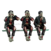Walking Dead Zombie Undead See Hear Speak No Evil Set of Shelf Sitters Computer Top Statue Figurines