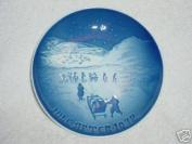 BING & GRONDAHL 1972 Porcelin Christmas Plate - Christmas In Greenland