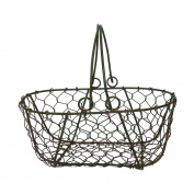Gathering Basket in Green/Rust
