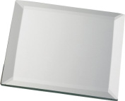 Biedermann & Sons Decorative Bevelled Square Mirror Plate, Set of 6, 10cm