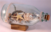 Real Shells and Sand in Bottle - Bring the Beach Inside 15cm x 8.9cm
