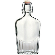 30 Piece Master Case - 16 Ounce (500ml) Glass Pocket Flask Bottles From Italy with Swing Top