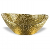 Badash Antique Gold Snakeskin Bowl, 17cm by 140cm