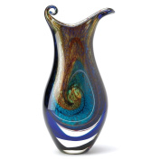 Gifts & Decor Galaxy Art Colour Swirl Glass Vase Home Accent Decor