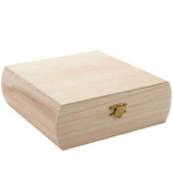 Darice 9180-14 Unfinished Wood Purse Box, 18cm by 18cm