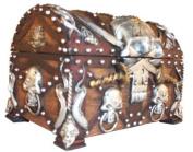 Pirate's Treasure Chest Trinket / Mini Jewellery Box