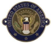 United States Seal - Hiking Stick Medallion