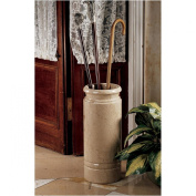 Design Toscano Authentic 20kg. Solid Ivory Marble Cane and Umbrella Vessel