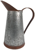 Craft Outlet Two Toned Tin Pitcher, 28cm