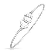 Bling Jewellery Secret Shades CZ Bangle Bracelet Sterling Silver