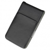 Zodaca Black/Grey Mens Faux Genuine Leather Silver Money Clip Wallets ID Credit Card Holder