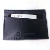 Thin Wallet Genuine Leather Super Slim Card Case Carry Money ID Cards Not Bulky Blue Compact Wallet