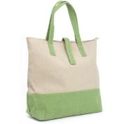Magid Two Tone Canvas Tote Handbag