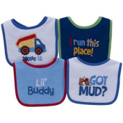 Parent's Choice Boys' Baby Bib, Icon, 4-Pack