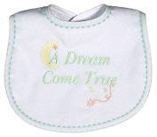 Raindrops 6847G Raindrops -A Dream Come True- Embroidered Bib, Green