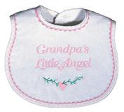 Raindrops 6440P Raindrops -Grandpa's Little Angel- Embroidered Bib, Pink