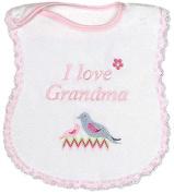 Raindrops 6751M Raindrops -I Love Grandma- Embroidered Bib, Pink