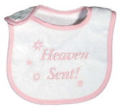 Raindrops 6470P Raindrops -Heaven Sent- Embroidered Bib, Pink