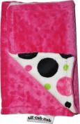 Lil Cub Hub BCHPCH Burp Cloth - Hot Pink Circle Print with Hot Pink Dot