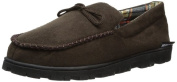 MUK LUKS Men\'s Polysuede Moccasin with Flannel Lining