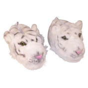 Comfy Feet White Tiger Animal Feet Slippers