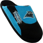 Comfy Feet CPA07LG Carolina Panthers Slippers Low Pro Stripe Large Size