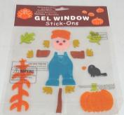 Fall Scarecrow Gel Window Clings