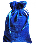 Tarot/rune Dice Gift Bag Royal Blue Velvet Drawstring Bag 15cm x 23cm