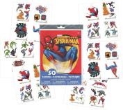 Spider-man Temporary Tattoos - 50 Assorted Tattoos