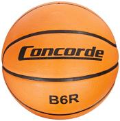 Concorde Rubber Game Basketball, Orange, Size 7