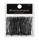American Dream Straight Bobby Pins, Black 2-inch/ 5 cm - Pack of 100