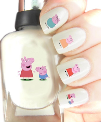Easy to use, High Quality Nail Art For Every Occasion! Peppa Pig