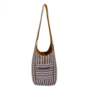 Striped Design Handloom Cotton Jhola College Bag for Her