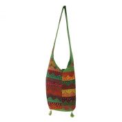 Assorted Reclaimed Hand Embroidered, Pasted Patches Cotton Jhola Bag