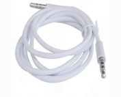 New Style White 3.5mm AUX Stereo Male to Male Audio Cable Cord Adapter For Apple iPad4 Ipad Air Ipad mini iPhone 5/5s,Ipod All Mp3 Mp4 Players Sony Creative for Samsung , All Laptop Pc And ard 3.5Mm Jack Plug by G4GADGET