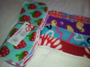 Easy Peasy Bamboo Fleece Topped Nappy Booster pk5 Unisex Prints