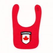 Baby Baby's Babies Canada Canadian Flag Crest Red National Country Bib