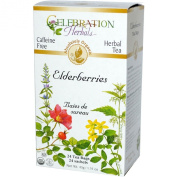 Celebration Herbals Organic Elderberries Herbal Tea Caffeine Free -- 24 Tea Bags