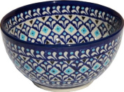 Polish Pottery Ice Cream / Cereal Bowl Decoration Inside From Zaklady Ceramiczne Boleslawiec #971/1-217a Classic Pattern, Height