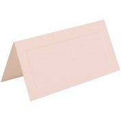 JAM Paper® - White with Embossed Border Foldover Table Place Cards 2 x 4 1/2 - 100 cards per pack