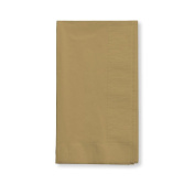 Creative Converting Touch of Colour 100 Count 2-Ply Paper Dinner Napkins, Glittering Gold