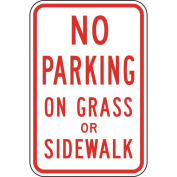 ComplianceSigns Aluminium Parking Control Sign, Reflective 46cm x 30cm . with Parking Not Allowed info in English, White