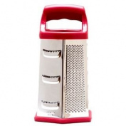 Cook's Corner 23cm Stainless Steel Hex Grater - Red Trim