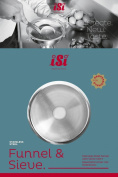 iSi North America 2714 Stainless Steel Funnel and Sieve Combination Set