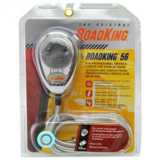 RoadKing RK56CHSS Chrome 4-Pin Dynamic Noise Cancelling CB Microphone with Chrome Flex Cord
