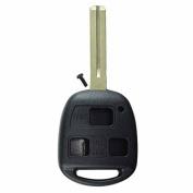 KeylessOption Replacement Key Case Shell Keyless Entry Remote Fob Uncut Blade Fix Master - Black
