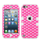 Thousand Eight(TM) iPod touch 5 (5th generation) Hard Plastic Dual Layer Tough Shield Heavy Duty Protective Case + [FREE Touch Screen Stylus] (TUFF case Dots