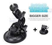 "GoPro Car Suction Cup Mount for Hero 1 2 3 + HD ""HEAVY DUTY* Windscreen Window Glass Holder 360 degree Stand + Tripod Adapter Digi-fun®"
