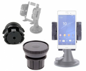 DURAGADGET Anti-Shock / Vibration & Adjustable In Car Cup Holder With 360 Degree Rotation For The New Sony Xperia Z3 / Z3 Compact